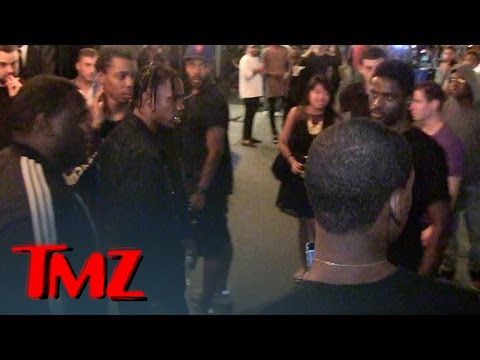 Rapper Travis Scott -- Lunges at Fan     I'M Not A$AP Rocky! | TMZ