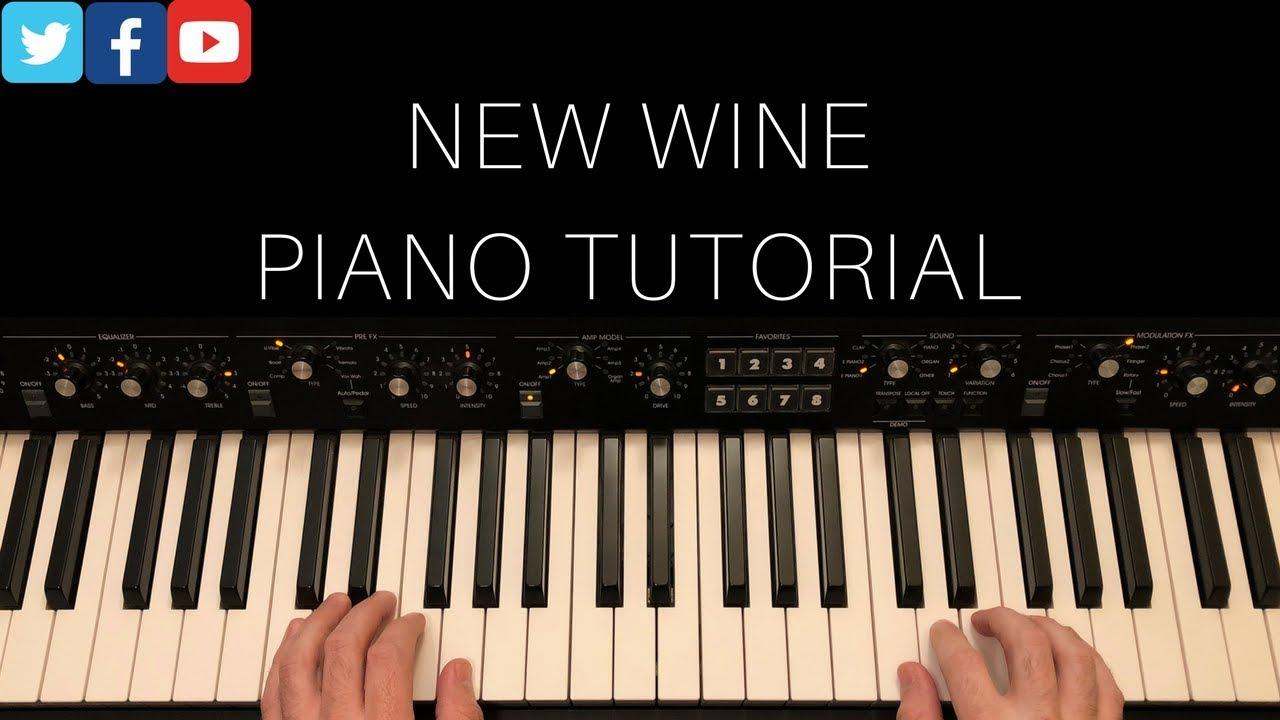 New Wine Piano Tutorial w/chord chart   Hillsong Worship