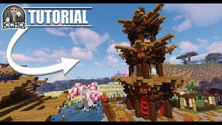Amazing Oriental Pagoda Tower Chinese Japanese Minecraft Tutorial Video