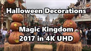 Halloween Decorations 2017 in 4K   Magic Kingdom   Walt Disney World thumbnail