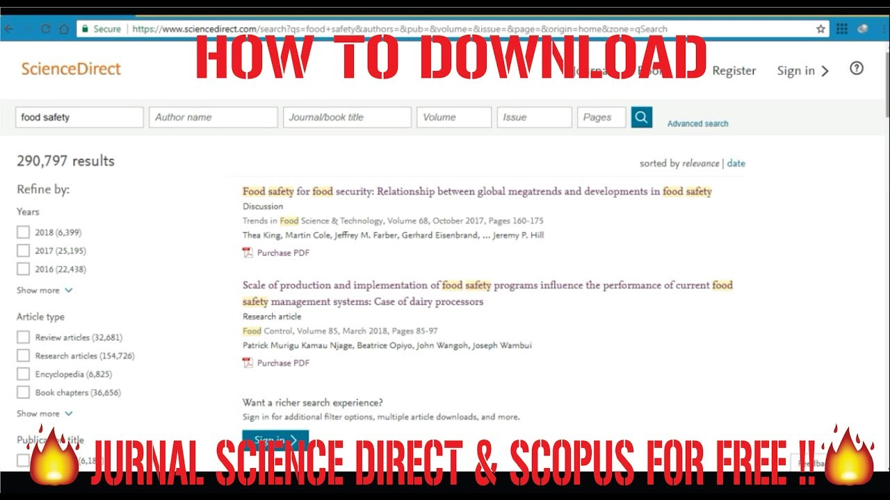 Berbagiilmu Cara Download Jurnal Dari Science Direct Scopus Berbayar Gratis Youtube
