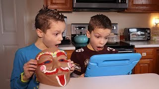 We Trapped Gingerbread Man in Our Escape Fun House!  Let's Watch!