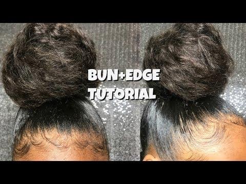 EASY TOPKNOT BUN+ BABY HAIR TUTORIAL