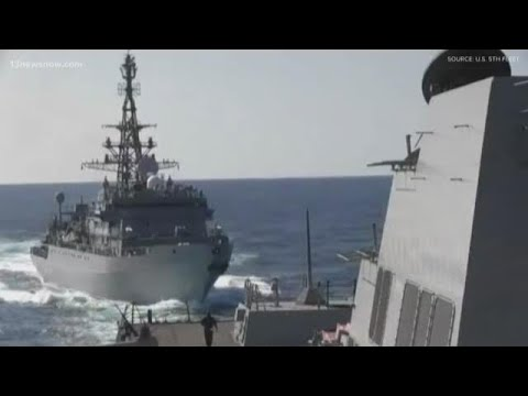 USS Farragut Faces Aggressive Moves By Russia Ship In Mideast