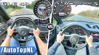 Mercedes GLE 43 AMG vs Porsche Cayenne S | ACCELERATION TOP SPEED & AUTOBAHN POV by AutoTopNL