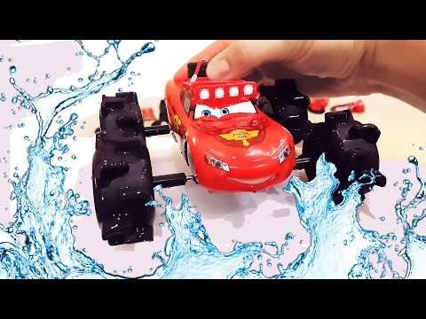 Thumbnail: Cars Lightning McQueen, Blaze, Crusher, Fire trucks and others dive in a bathroom blaze crusher.
