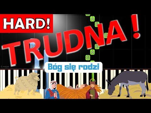 🎹 Bóg się rodzi - Piano Tutorial (TRUDNA! wersja) 🎹