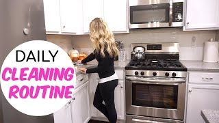 MY DAILY CLEANING ROUTINE! // ALL DAY CLEAN WITH ME 2018 // EVERYDAY CLEANING ROUTINE