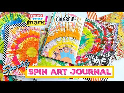 sparkly-spin-art-junk-journal---using-a-box-fan