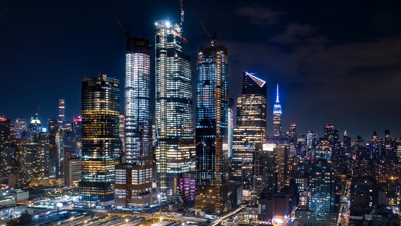 New York City, Hudson Yards, and Jersey City Lights 4K ...