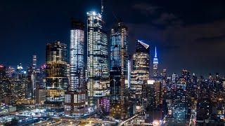 New York City, Hudson Yards, and Jersey City Lights 4K - Remastered