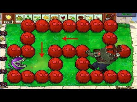 Plants vs Zombies Hack - 2 Chomper vs Gargantuar vs Giga-Gargantuar