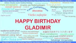 Gladimir   Languages Idiomas - Happy Birthday