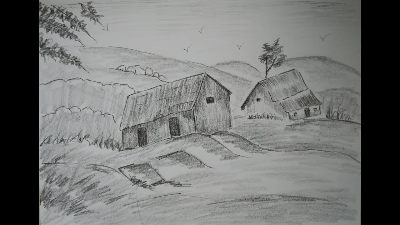 How To Draw Nature Drawing For Beginners Pencil Shading Learn How