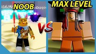 Noob VS Max Level Boss in Roblox Adventure Simulator
