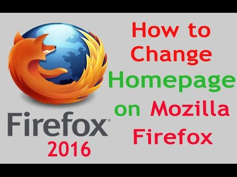 How to Change Homepage on Mozilla Firefox Browser | Easy and Fast Tip of 2016
