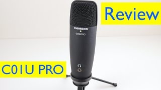 Samson C01U Pro USB Studio Condenser Mic Review and Test
