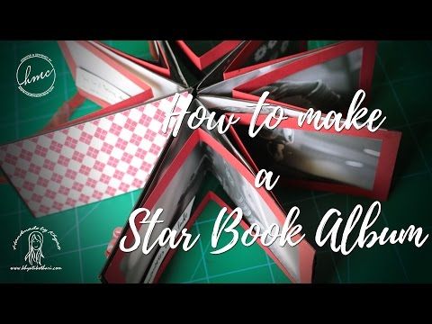 How to make a Valentine Day Star Book Album [DIY gift for boyfriend], Video Tutorial by Khyati
