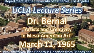 Dr Bernal lecturing at UCLA 3/11/1965