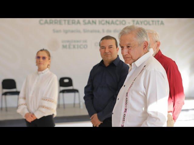 Supervisión de obra carretera San Ignacio - Tayoltita, desde San Ignacio, Sinaloa