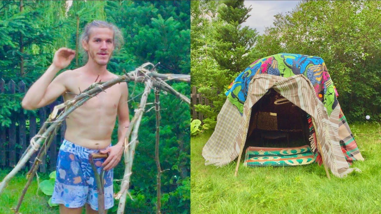 How To Build A Sweat Lodge For Free Youtube Backyard diy sweat lodge