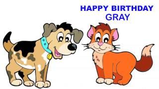 Gray   Children & Infantiles - Happy Birthday