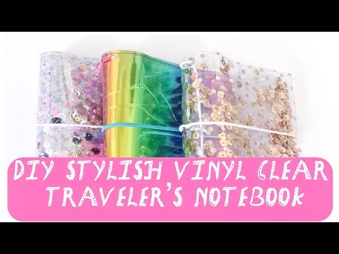 DIY Stylish Vinyl Clear Traveler's Notebook