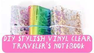 DIY Stylish Vinyl Clear Traveler's Notebook