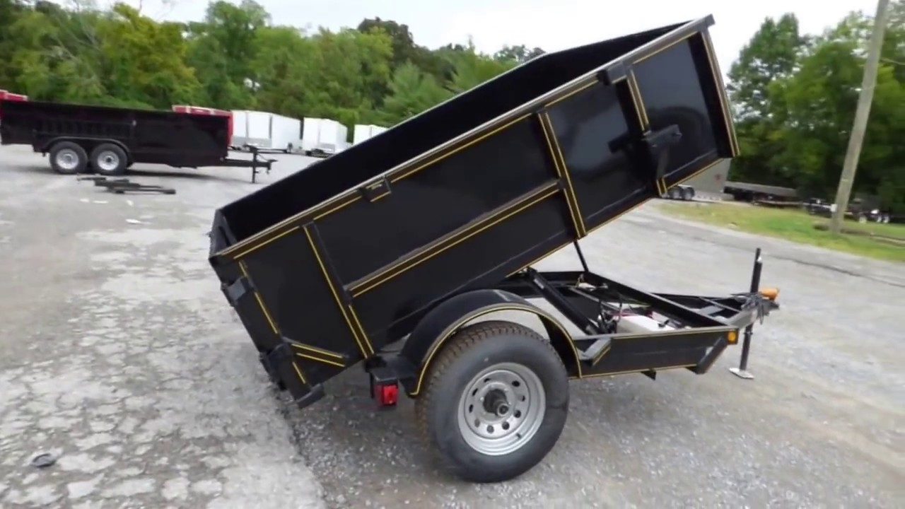 Hydraulic Lifting Trailers : Hydraulic dump trailer with brakes ft sides roofing
