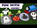Thomas and Friends Play Doh spooky Halloween Logos with the funny Funlings - Toy story for kids TT4U