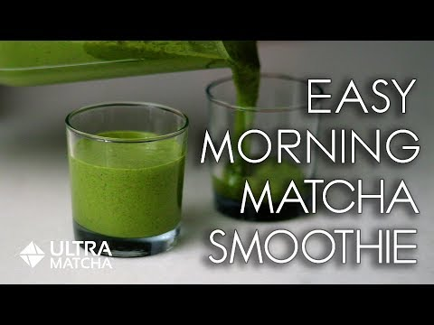 Morning Matcha Smoothie – Easy Recipe for a Green Power Breakfast!
