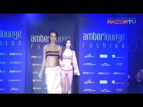 La Perla lingerie show at Amber Lounge Singapore