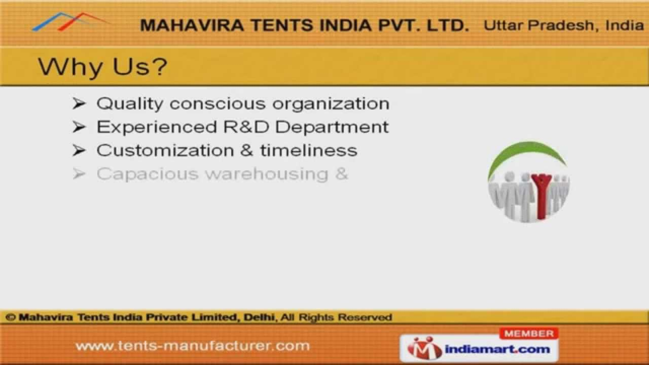 Resort Tent by Mahavira Tents India Private Limited Ghaziabad  sc 1 st  YouTube & Resort Tent by Mahavira Tents India Private Limited Ghaziabad ...