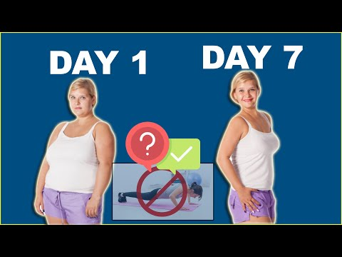 How To Lose Belly Fat In 1 Week At Home Without Exercise (EASY)