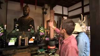 笑い飯哲夫がお寺を楽しく紹介! 「飛鳥寺 その2」 実際に御本尊を見て...