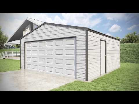 Versatube 20x20x8 Frontier DIY Steel Garage Kit