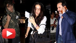 Sara Ali Khan, Ibrahim Khan And Saif Ali Khan Head To Nyc For Iifa Awards 2017