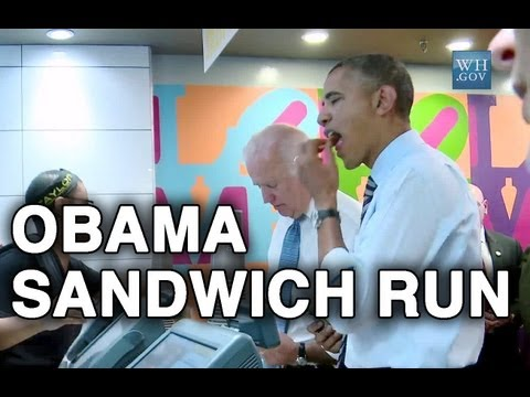 Obama Buying Sandwich for Lunch. Leaves a 85% Tip.