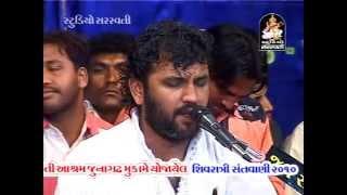 """Shivji Popular Bhajan """"Kailas Ke Nivasi"""" Kirtidan Gadhvi Live Dayaro 2014"""