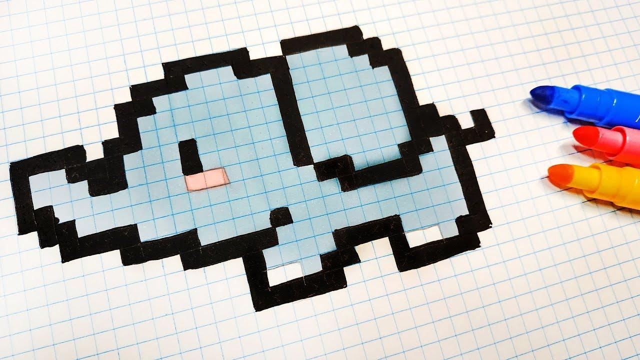 Handmade Pixel Art How To Draw Kawaii Elephant Pixelart