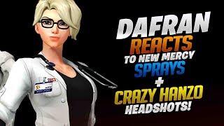 Dafran Reacts To New Mercy Sprays + Crazy Hanzo Headshots! - Overwatch