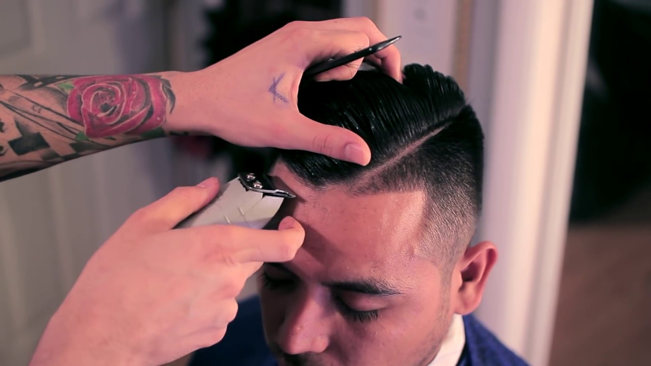 Barber House Calls : Under Cut Fade Comb Over Side Part House Call Barber ...