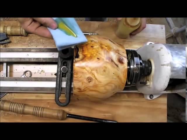 Woodturning  - example - home slider - 43 sec