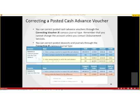 Cash Advances Webinar