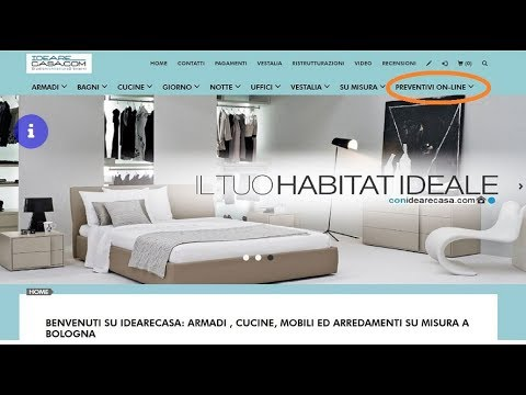 Preventivi on line Armadi Cucine Librerie - YouTube