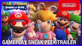 Mario + Rabbids Sparks of Hope - Gameplay Sneak Peek Trailer - Nintendo Switch