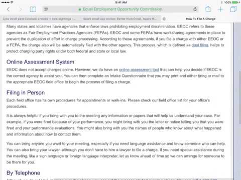 Filing Charges with the EEOC and FCHR