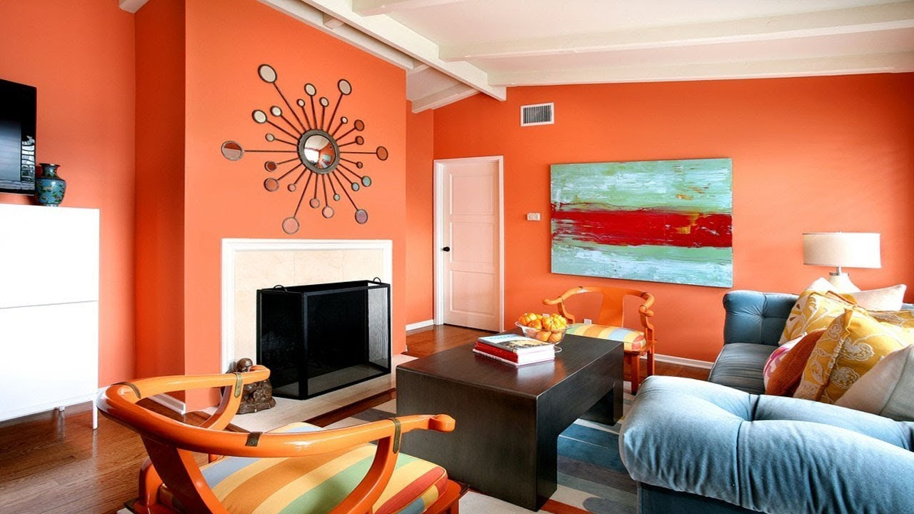 Living room color ideas 45 best wall paint colour - Designer wall paints for living room ...