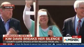 Kim Davis speaks after release from jail