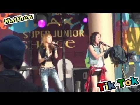 [Mix CAMs][Clear Audio MP3] Jessica SNSD & Krystal F(x) - Tik Tok (Ke$ha) In SM Town Concert 2010